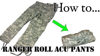 getlinkyoutube.com-Army Packing Hack: How to Ranger Roll Your ACU Pants - Folding Uniform for Basic Training