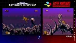 getlinkyoutube.com-The Lion King | Mega Drive & SNES | Comparison - Dual Longplay