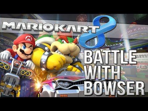 BATTLE WITH BOWSER   Mario Kart 8 Online   Wii U