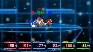 getlinkyoutube.com-Super Smash Bros. Crusade - Shadow & Sonic Vs Mario & Luigi Vs Fox & Falco