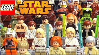 Минифигурки Lego Star Wars Часть 1. Обзор Лего Звёздные войны Светлая сторона из моей коллекции ЛЕГО