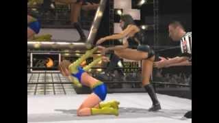 getlinkyoutube.com-SvR2007 WWE Diva vs CAW Cheerlerder