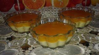 dessert facile aux banane et orange / ديسير سهل وراقي  بالموز والبرتقال