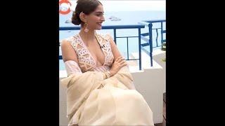 getlinkyoutube.com-Sonam Kapoor almost nude in a Interview|2016