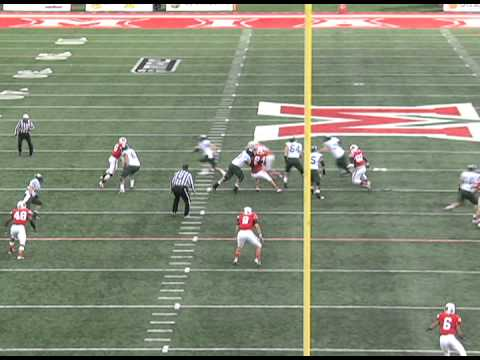 Eric Herman #77 Right Guard Ohio University Bobcats Football 2013 Part 3