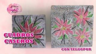 getlinkyoutube.com-Cuadros de flores hechos con telgopor y carton