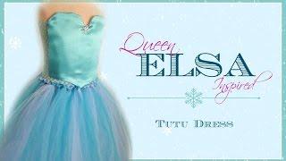 getlinkyoutube.com-How to make an Elsa Dress - D.I.Y. Elsa Tutu Dress Tutuorial