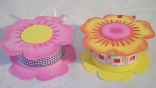 getlinkyoutube.com-Manualidades para regalar: Cajita Flor de goma eva Foamy box