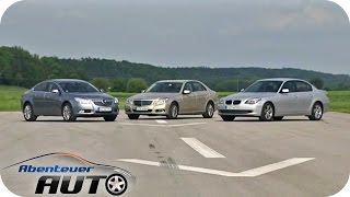 getlinkyoutube.com-E-Klasse Mercedes vs. 5er BMW  vs. Opel Insignia - Abenteuer Auto