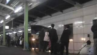 getlinkyoutube.com-2009.3.13 21.40  富士・はやぶさ  東京行き最終列車(防府駅)