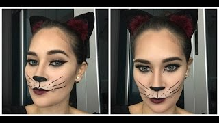 getlinkyoutube.com-Tutorial de Halloween / Maquillaje de Gato / Carla Calvo