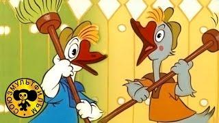 getlinkyoutube.com-Мультфильмы: Два весёлых гуся | Two merry geese with subtitles english, greek, italian, russian