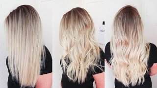 getlinkyoutube.com-Sunkissed Hair | Smudge Roots and Sombre Balayage Highlights