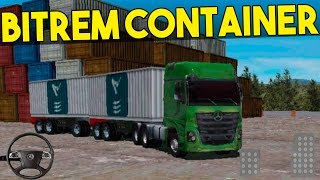 getlinkyoutube.com-Merceds Truck Simulator MB Actros Transportando Bitrem Container