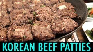 getlinkyoutube.com-Tteok Galbi: Beef Patties in Korea (KWOW #129)