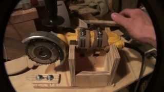 getlinkyoutube.com-Homemade Wood lathe Duplicator using an angle grinder