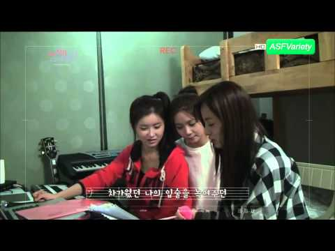 [Cut] 121006 Juyeon reveals After School's dorm + E-young's Piano talents!