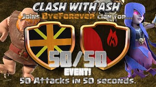 getlinkyoutube.com-Clash Of Clans | 50 ATTACKS IN 50 SECONDS! 50 IN 50 MUST SEE CLAN WAR!