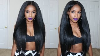 getlinkyoutube.com-My NEW Kinky Straight Hairstyle Under $20 - TheBrilliantBeauty