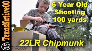 getlinkyoutube.com-6 Year Old Shooting 100yrd Steel with the Chipmunk 22LR Rifle