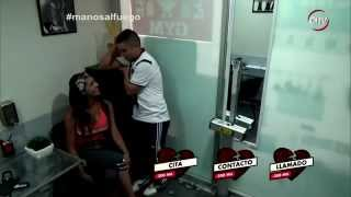 getlinkyoutube.com-El coqueto Javier cayó con la sensualidad de Priscilla - MANOS AL FUEGO