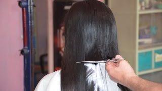 getlinkyoutube.com-Girl long hair cut off