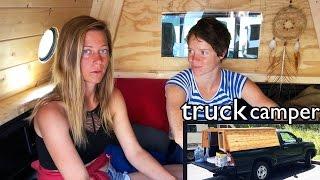 getlinkyoutube.com-Girl Living in Truck Camper || custom cap conversion by Kelsea Anderson