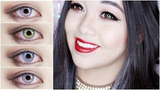 (GIVEAWAY) Desio Lens Review - Desert Dream, Innocent White, Creamy Beige, Mint Touch