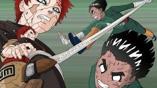 getlinkyoutube.com-Naruto - Rock Lee Vs Gaara (SOLO BATALLA/LATINO)