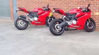 Ducati 959 Panigale fitted with the new Akrapovic exhaust at www.ridersmotorcycles.com