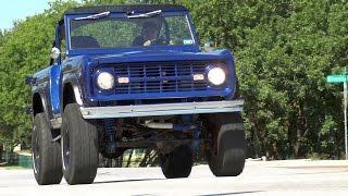 1968 Ford Bronco custom 4-wheel-drive 4x4 classic 4K HD test drive & tour