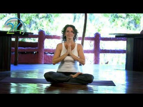 Morning Heart Expanding Practice ~ Intermediate Yoga Class ~ Full Length 49 minutes
