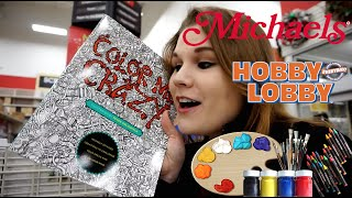 getlinkyoutube.com-ART SUPPLIES SHOPPING (at Hobby Lobby and Michaels) - @dramaticparrot