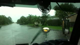 School Bus Gets Caught in Flood After Hurricane Isaac