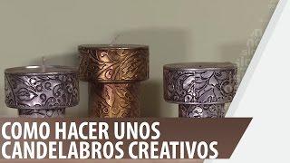 Download video c mo hacer candelabros con envases reciclados - Como hacer candelabros ...