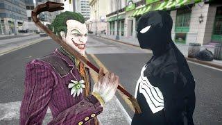 getlinkyoutube.com-Joker vs Black Spiderman - EPIC BATTLE