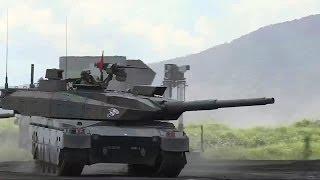 getlinkyoutube.com-JGSDF - Type 10 Main Battle Tank & OH-1 Ninja Observation Helicopter [720p]