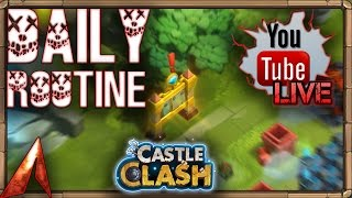 Castle Clash Daily Routine! Need Help for Lava 3!