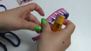 getlinkyoutube.com-Diademas  para el cabello  forma de triangulo - tres colores de cinta. Vinchas de liston