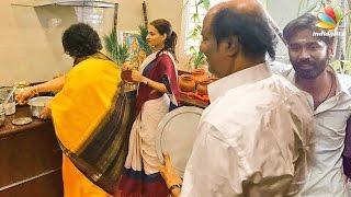 getlinkyoutube.com-Rajini celebrates Pongal with Aishwarya & his grandsons | Dhanush VIP 2