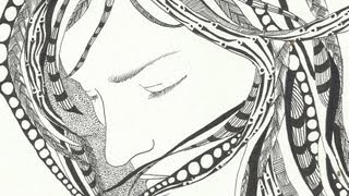 getlinkyoutube.com-January 20 Zentangle (The Girl With Tangled Hair)