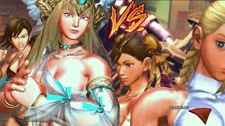 getlinkyoutube.com-Chun-Li & Cammy vs. Asuka & Lili - Sexy Street Fighter x Tekken Mod Battle
