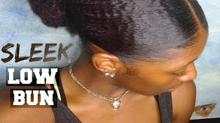 getlinkyoutube.com-How To: Sleek Low Bun | for THICK/ KINKY Hair | Natural Hair