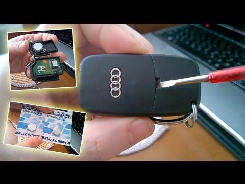 Выкидной ключ - инструкция по разбору и замене батарейки в автомобильном ключе Ауди А6, А4, Passat