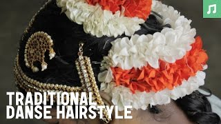 getlinkyoutube.com-Bharata Natyam: Traditional Hairstyle