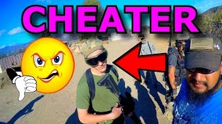getlinkyoutube.com-Airsoft CHEATER Draws Blood with 500FPS DMR (Airsoft Gameplay, Argument)