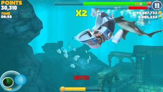 getlinkyoutube.com-Hungry Shark Evolution: Robo Shark #2