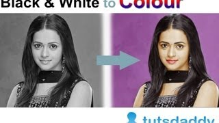 getlinkyoutube.com-Converting Black and White Photo to Colour Photo - Photoshop Tutorial by tutsdaddy.com