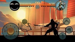 getlinkyoutube.com-Shadow Fight 2 — StickMan VS Wasp