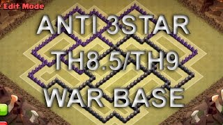 getlinkyoutube.com-Clash of Clans:: BEST TH8.5/TH9 ANTI 3STAR WAR BASE
